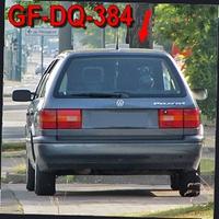 der dunkelgraue VW Passat mit seinem NEUEN Kennzeichen (GF-DQ-384) auf der Berlinerstraße stadtauswärts.