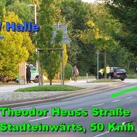 Die Laserpistolenattacke an der VW Halle Stadteinwärts bei 50 Kmh