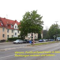 An der L 309 in Lübeck ,4 teilige Vitronic PoliScanSpeed-Säule kann in beide Fahrtrichtungen blitzen aber nicht immer scharf, da das Ordnungsamt Lübeck nur 2 Kameras und Messelemente hat...