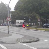 PoliScan speed F1 stationär - in der Schwartauer Allee - aus der Sicht Stadtauswärts