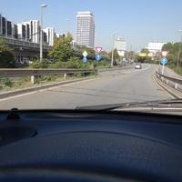 Kurz vor dem Überfahren der Messkabel. Fahrtrichtung BASF/Oppau. 50 erlaubt.