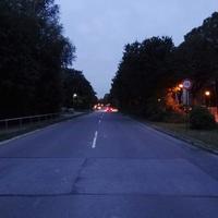 Anfahrt zur Messstelle ... noch ca 70 Meter bis zu den Messkabeln. Fahrtrichtung: von Edigheim nach Oppau (also Nord nach Süd)