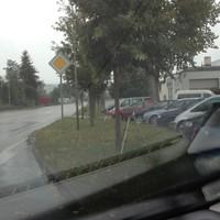 wie auf dem Foto zu sehen, ist die Messstelle etwas früher als in der Blitzer.de Karte verzeichnet, Waiblinger Straße Einmündung Grafenbergweg FR Waiblingen
