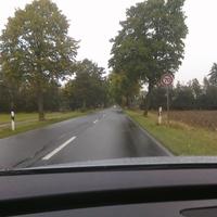 Anfahrt, letzter Hinweis auf die 70 km/h Zone vor der Meßstelle
