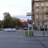 Bild von einer Verkehrsinsel