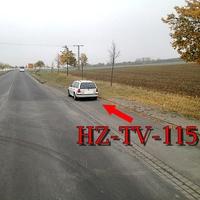 Der weiße Golf 4 Variant (HZ-TV-115) blitzt an der Bushaltestelle auf der B 79 höhe Sonnenburg Richtung Wolfenbüttel
