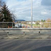 Gerätschaft auf der Brücke montiert. Fahrtrichtung Saarbrücken A 620 Höhe Saarlouis