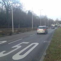 """Dieser """"Blitzer"""" steht in der Marbacher Straße in Ludwigsburg zwischen Hoheneck und Neckarweihingen - Landkreis Ludwigsburg... 50 km/h sind hier erlaubt ! Gegenüber dem driiten Blitzer fast genau auf der Höhe."""