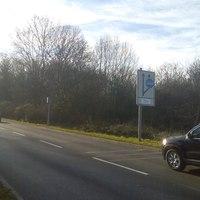 """Dieser """"Blitzer"""" steht in Hoheneck - Kreis Ludwigsburg ortsrauswärts 50 km/h sind hier erlaubt."""