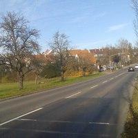 """Dieser """"Blitzer"""" steht in Hoheneck - Kreis Ludwigsburg ortseinwärts 50km/h sind hier erlaubt."""