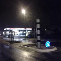 Die Messstelle befindet sich auf einer Verkehrsinsel am Ortseingang von STEINBACH (nicht Oberursel wie in der Datenbank angegeben) kurz vor der ESSO-Tankstelle.