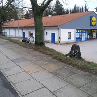 Berliner Strasse Geesthacht höhe Lidl einseitig.