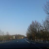 Fahrtrichtung Bremen, Blitzer steht auf der Brücke von hier aus noch nicht zu sehen