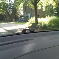 Blitzer steht in Richtung Soltau am Baum, Opel Combo als Messfahrzeug. 50km/h