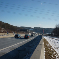 Anfahrt auf eine regelmäßig genutzte Stelle an der A 9, diesmal kurz nach der Anschlussstelle Bindlacher Berg.
