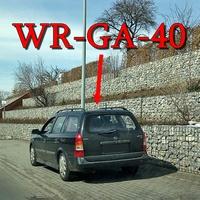 Der schwarze Opel Astra Variant (WR-GA-40) aus Wernigerode, in der Straße Zaunwiese. Aus diesem Messwagen wird nicht nur durch die Heckscheibe geblitzt sondern auch seitlich aus den Fenstern hinten. Auf dem Bild durch die Heckscheibe.
