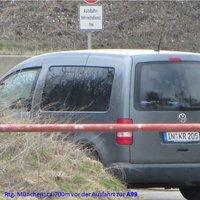 Blitzerfahrzeug von hinten  Kennzeichen: IN KR 205