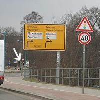 Permanent Blitzer 40 km/h Richtung Innenstadt aus Richtung Greifswald-Altentreptow