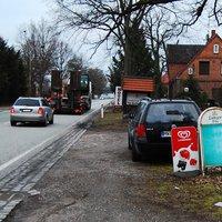 Ein paar Meter weiter Richtung Hagenow, am Parkplatz des Landgasthofes