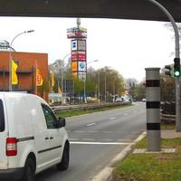 Poliscan Speed-Säule zur Tempo 50 Km/h Überwachung in Fahrtrichtung Hamburg...