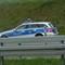 Messung B14 aus Winnenden kommend auf Höhe Nellmersbach, 120 - 100 - 70 wegen Einfädelspur und Fahrbahnverengung. Polizeifahrzeug von weitem gut zu sehen, Anhalteposten auf selber Höhe