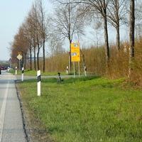 Das LEIVTECXV 3 wurde gerade aufgestellt der Messwagen RZ RZ 244 (blauer Hundefängerwagen) steht in der rechten Abzweigung...