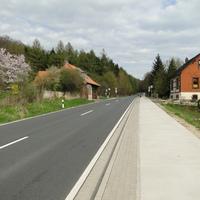 am 29.4.13 fotografierte die Tonne die in Rtg. Bockenem fahrenden, Wildwechsel (am Tag???), 70! Der Ford stand im Waldweg