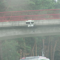 Kennzeichenlesegerät; an der Brücke montiert, in Richtung Prenzlau auf der A11 zwischen Lanke und Finowfurt, erste Brücke nach Abfahrt Lanke, erlaubt 120km/h