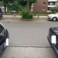 hier zu sehen: Lichtschranke ES 3.0 , Wabenfilterblitz und die WLAN-Kamera in Fahrtrichtung Stockelsdorf