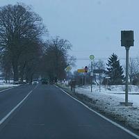 B 110 Siedenbrünzow in Richtung Jarmen 70 km/H