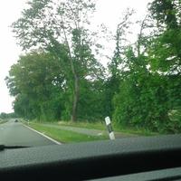 Die neue Meßstelle auf der B6 bei Schneeren (Richtung Nienburg) befindet sich in etwa in Höhe des vorausfahrenden Fahrzeugs. Die Meßgeräte sind allesamt sehr gut hinter Bäumen versteckt und kaum sichtbar. Bessere Fotos folgen sobald verfügbar.