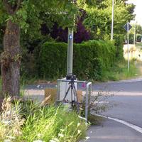 Fahrtrichtung Veitshöchheim: Das digitale Lasergerät aus der Nähe