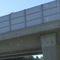 Abstandsmessung A8 FR München, Kameras auf Brücke für aufmerksame Fahrer von Weitem erkennbar am Brückenpfeiler erst sehr spät zu sehen.