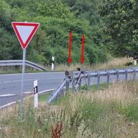 B 79 zwischen Dardesheim und Athenstedt Richtung Halberstadt an der Rastplatzausfahrt, vor dem Abzweig nach Zilly.