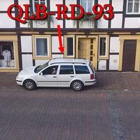 Der Blitzer in Ilsenburg auf der Marienhöferstraße, stand der weiße VW Golf 4 Variant (QLB-RD-93).