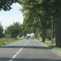 Fotografiert am 16.08.2013, B110 Ortsausgang Demmin in Richtung Dargun