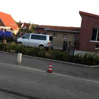 Gerade beim Aufbau der Gerätschaften bei der KiTa ( völlig berechtigte Messstelle) im Teutendorfer Weg Richtung Teutendorf