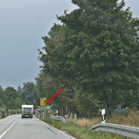 permanent Blitzer B109 ca. 3km vor Anklam, drehbar  80 km/h