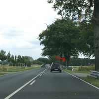 B111 zwischen Bannemin und Zinnowitz (Usedom) 100 km/h