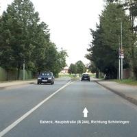 Meßstelle in FR Schöningen mit dem üblichen Golf IV Variant