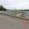 Abstandsmessung auf der A2, in höhe BS Hafen von der Brücke aus. Weißer VW T 5 (PE-LK-2007) mit den Messkameras auf der Brücke. Hier in Richtung Hannover/Peine.