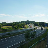 Anfahrt in Richtung Nürnberg / München, wir befinden uns ungefähr mittig zwischen der Anschlussstelle Trockau und der Rastanlage Fränkische Schweiz / Pegnitz. Weitere Messstellen an der A 9 sind unter www.messstellen.info gelistet!