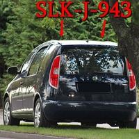 Blitzer am OA Schackenthal Richtung Sandersleben. 50 kmh. Dunkelblauer Skoda Roomster (SLK-J-943), rechte Seite hinter einem Baum geparkt.