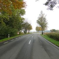 """die """"neue"""" Lichtschranke zwischen Edemissen und Stederdorf in der Panzerkurve! 70 ist dort! Die Messung war allerdings erkennbar"""