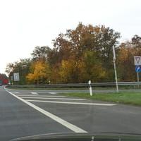 Anfahrt stadtauswärts in Richtung Süden (Gerolzhofen). Rechts mündet die Abzweigung aus der A70 ein. Meßstelle heute recht weit vorne.