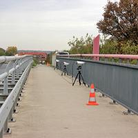 Abstandsmessung auf der A 2 Richtung Hannover, von der Brücke höhe PE Meerdorf aus. Zwischen der Raststätte Zweidorfer Holz und Peine.