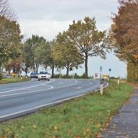 Übersicht der Messstelle an der B 444 am Abzweig Gadenstedt in der 70iger Zone, beidseitig.