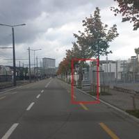 Traffic-Observer LMS-04 semi auf Gehweg. Beide Richtungen