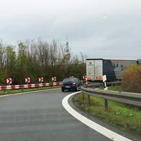 Anfahrt - Abzweigung von der A73 auf die A70 Rtg. Schweinfurt - noch ist nichts zu erkennen