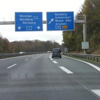A7 Richtung Würbzurg
